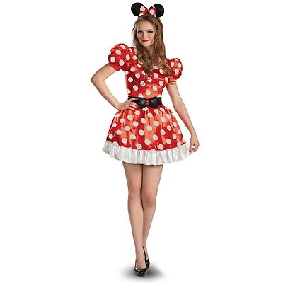 New Minnie Mouse Classic Adult Halloween Costume Small Medium Large Disguise](Halloween Costumes Minnie Mouse Adults)