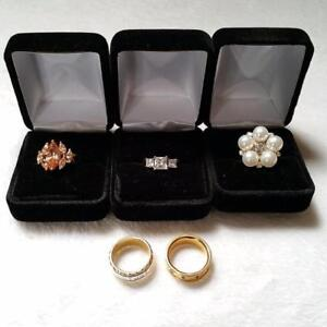 Lot of 5 High end fashion rings