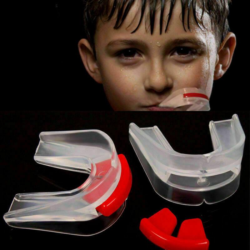 Transparent Doppel Zahnschutz Doppel-Mundschutz fi für Sport Boxen-Muay- Z4 L2O8