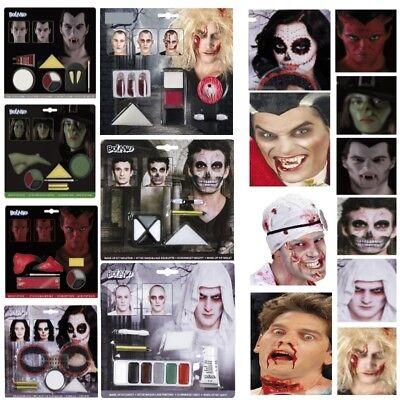 MAKE UP SETS Schminke Hexe Vampir Zombie Dracula Skelett Teufel Halloween ()