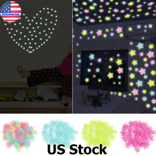 Home Decoration - Glow in the Dark Star Wall Switch Stickers Star Fairy Luminous Kids Room Decor
