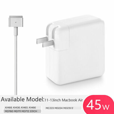 45W Model T MagSafe2 AC Charger Power Adapter For Macbook Pro A1436 A1466 MD760