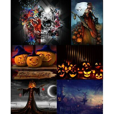 Halloween Skull 5D Diamond Painting Embroidery Cross Craft Stitch Kit Home Decor - Halloween Home Crafts
