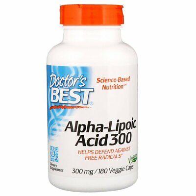 Alpha Lipoic Acid 300mg 180 Veg Capsules | Antioxidant | Glucose Metabolism