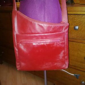 Red Leather Derek Alexander Sling Purse