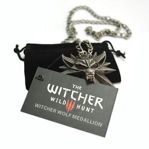 The-Witcher-3-Wild-Hunt-necklace-Official-Wolf-collar-Geralt-medallion