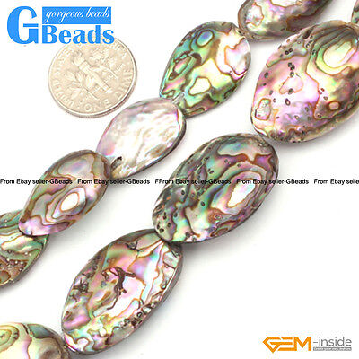 Abalone Shell Gemstone - Sea Abalone Shell Gemstone Loose Beads For Jewelry Making Free Shipping in Lots