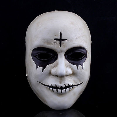 THE PURGE 2 MOVIE COSTUME HORROR FANCY DRESS MASK ADULT COSPLAY ANARCHY - The Purge White Dress