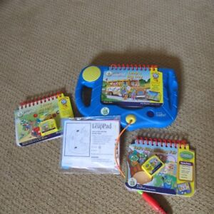 Leap pad and 2 games with books