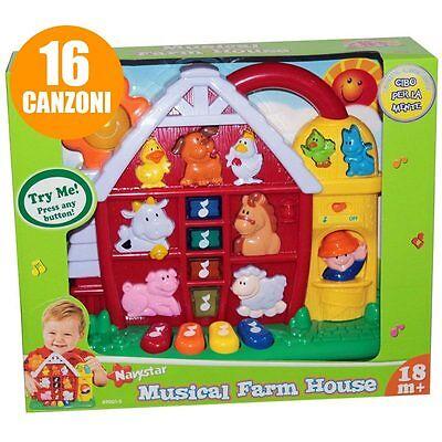 Fattoria Musicale 3D Grandi Giochi Prima Infanzia con Luci e Suoni 16 Canzoni