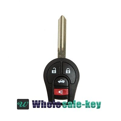 REPLACEMENT KEYLESS REMOTE ENTRY 4 BOTTON WITH CHIP FOR NISSAN CWTWB1U751