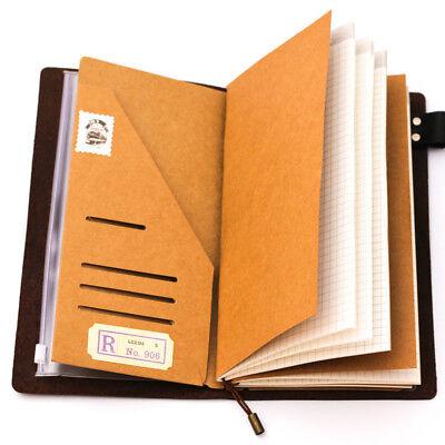Retro Kraft Paper Inner Sheet Traveler Notebook Envelope Folder File Bag 2019