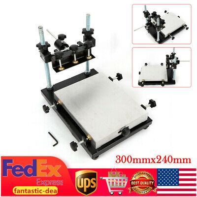 Manual Solder Paste Printer Pcb Smt Stencil Printer 300x240mm Adjustable Height