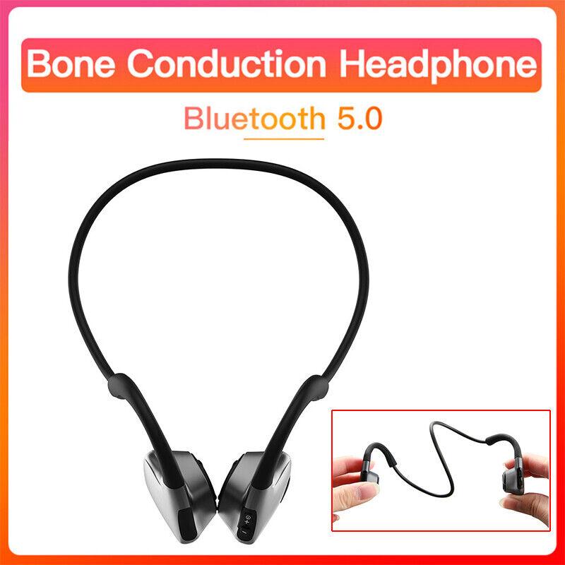 bone conduction earphone bluetooth sports smart headset