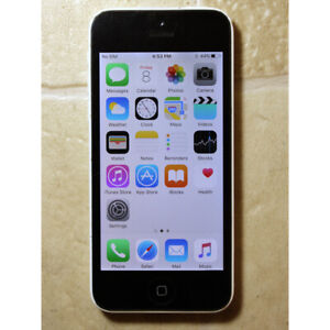 Apple iPhone 5c 16GB white color unlocked USED works good