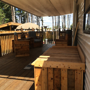 Puma travel trailer on leased lot at Candle Lake Golf Course