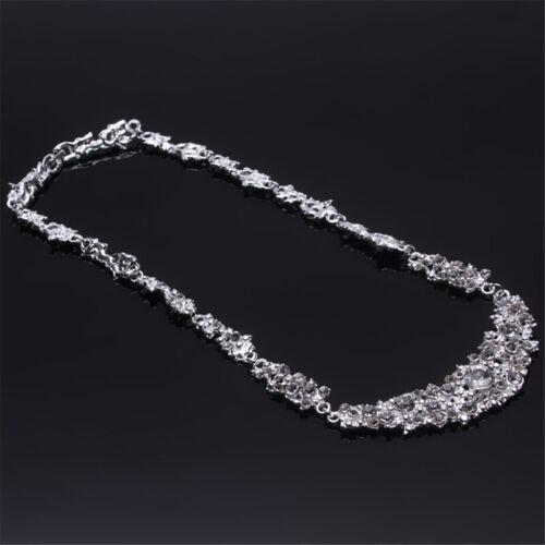Crystal Diamante Necklace Earrings Jewellery