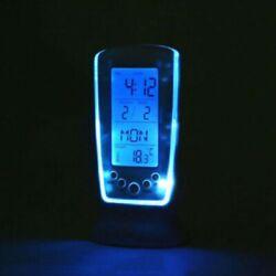 USA Table Alarm Clock Digital Backlight LED Display Snooze Thermometer Calendar