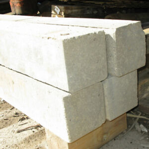 "6"" Square Solid Cement Blocks x 4 feet ***SALE*** ONLY $12 each"