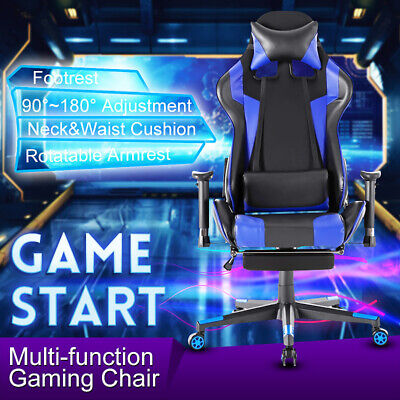 Ergonomic Office Chairs 180 High Back Recliner Computer Racing Gaming Chairs