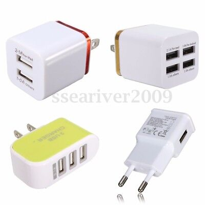 USB Wall Charger Universal Home Travel Power Adapter Charging EU/US  Plug  Universal Wall Power Adapter