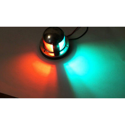 Stainless Steel 2 In 1 Led Light 12V  Boat Marine Yacht Bow Navigation Green Red
