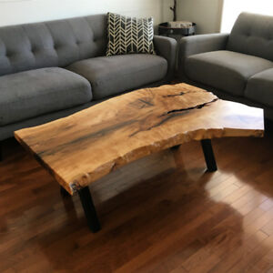 Custom Reclaimed Wood Live Edge Coffee Tables