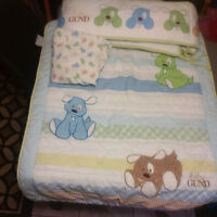Baby Gund Crib Bedding set (sheet, bumpers, quilt)