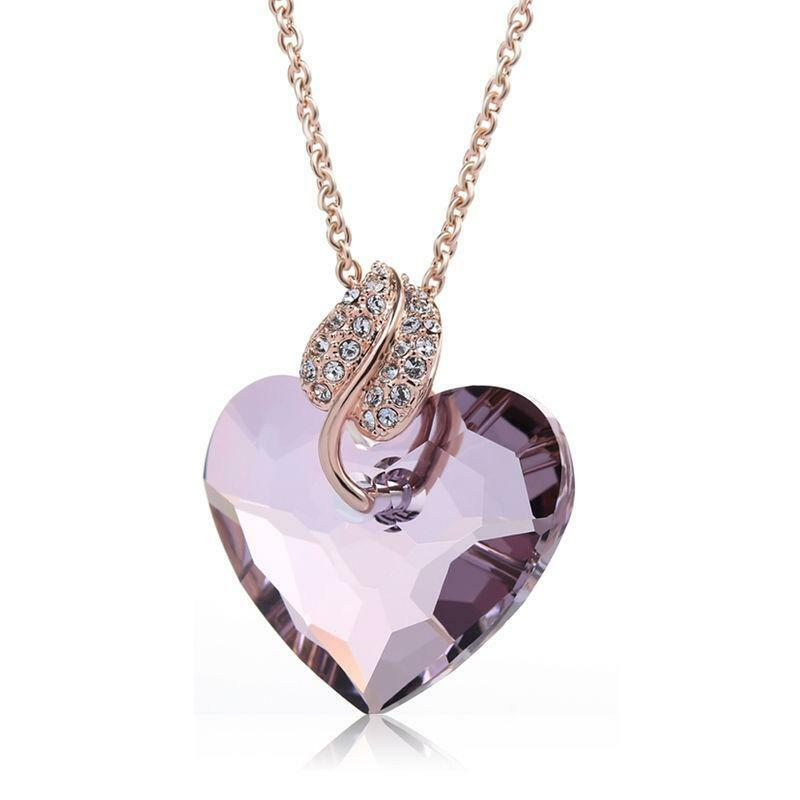 women heart swarovski for blue jewels jewellery crystal pendant titanic necklace ananth dp ocean