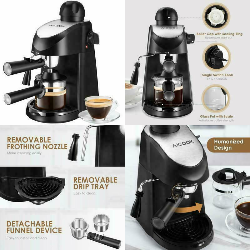 Espresso Machine 3.5 Bar Coffee Maker Cappuccino Machine Wit