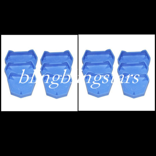 12 Pcs Dental Plaster Model Former Base Mold Mould Tray Silicone Rubber Blue