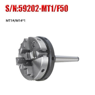 Mt1 4 Jaw Mini Lathe Chuck 50mm Self Centering Chuck For Cnc Drilling Machine
