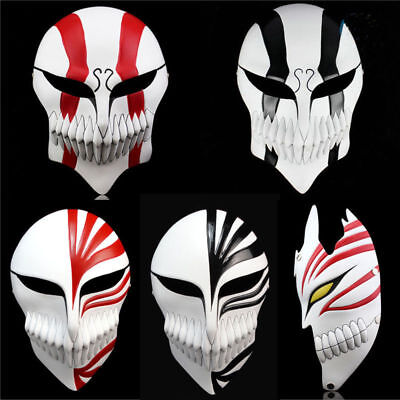 Bleach Ichigo Kurosaki Bankai Hollow Resin Mask Costume Halloween Cosplay Props