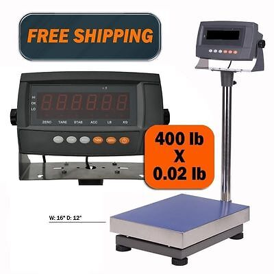 440 LB Digital Shipping Scale Industrial Bench Floor Postal Animal Personal Bench Floor Scale