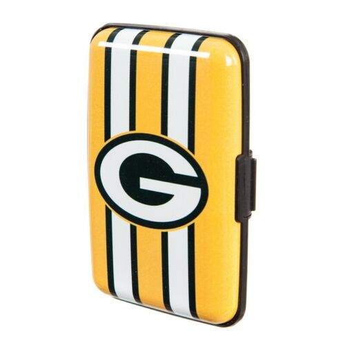 Green Bay Packers Hard Case Wallet Card Holder - Authentic NFL Product