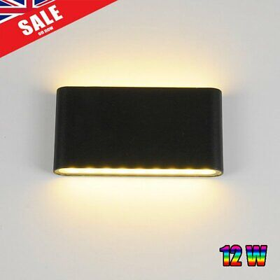 Outdoor LED Wall Lamp Up Down Lights Home Garden Warm 12W White Waterproof IP65