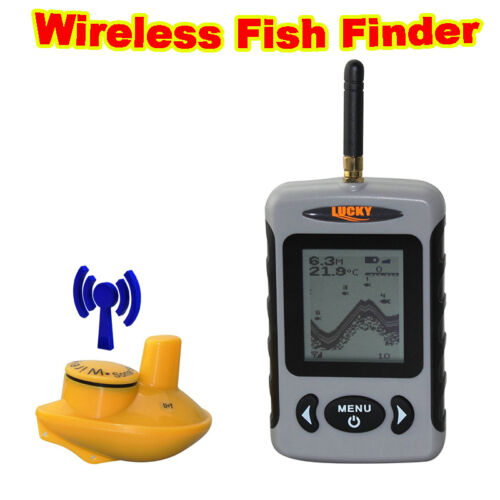 Lucky ffw718 wireless sonar sensor fish finder 120ft 40m for Wireless fish finder