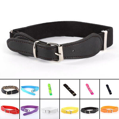 Toddler Baby Candy Color Waist Belt Buckle PU Leather Kids Girls Boys - Baby Candy