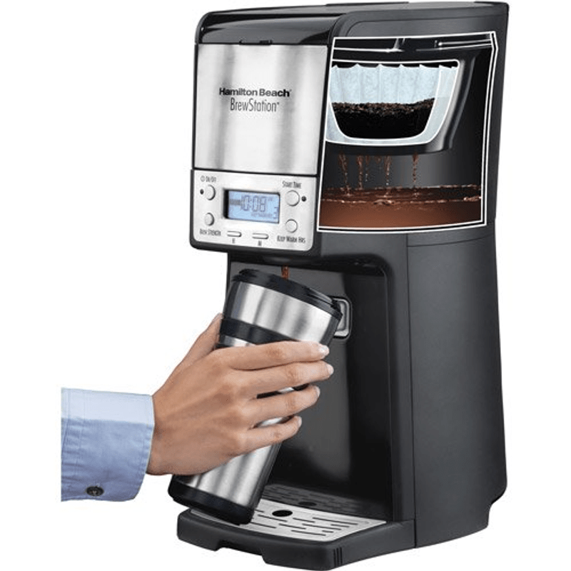Coffee Maker Programmable 12-Cup Stainless Black Steel Cuisi