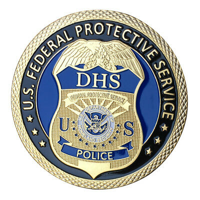 U S  Federal Protective Service Gp Challenge Coin 1418