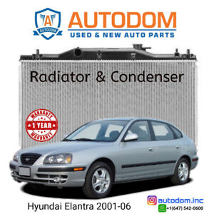 New Condenser and Radiator Hyundai Elantra 2001-06