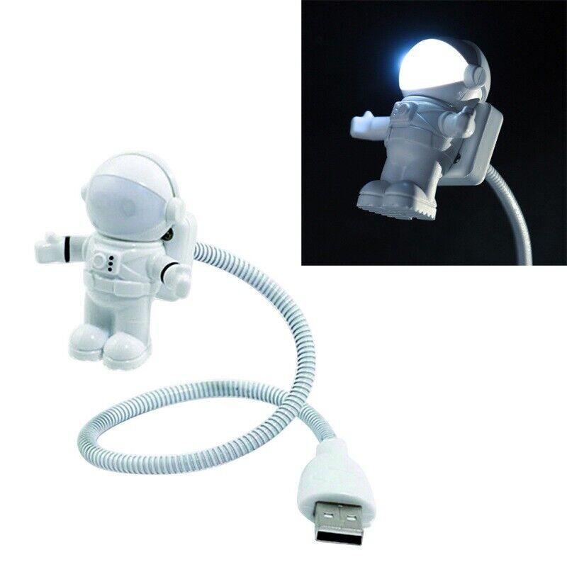 Mini 5V Lamp Astronaut USB Charging Cable LED Night Light For Computer Reading