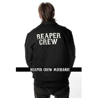 Authentic Sons Of Anarchy Soa Samcro Reaper Crew Mechanic Lined Jacket M 4Xl