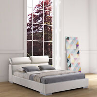 High Quality Modern UPHOLSTERED/FAUX LEATHER Platform Bed
