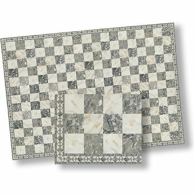 Faux Marble Flooring - Dollhouse Flooring Grey & White Faux Marble Floor Tile