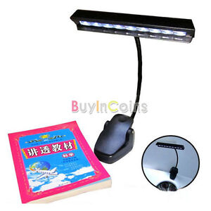 9 LED Clip Light Orchestra Arm Music Stand Adapter Book Reading Lamp RS AU