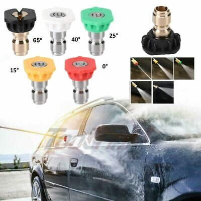 5pcs 2.5 Gpm Spray Nozzle Tip For High Pressure Washer Snow Foam Lance New