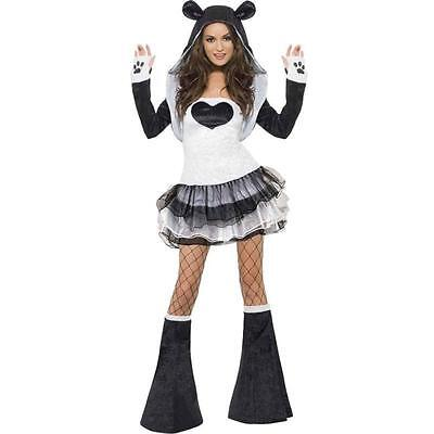 NWT WOMEN'S SEXY FEVER PANDA BEAR ADULT ANIMAL HALLOWEEN COSTUME SMALL 6-8