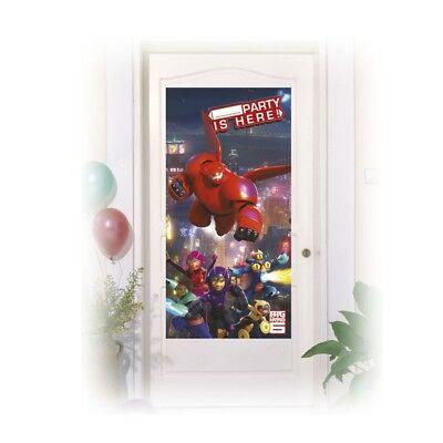 Big Hero 6 BAYMAX riesiges Robowabohu Türposter Kindergeburtstag Deko ()