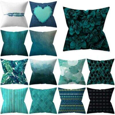 Pillow Case Cushion Cover Waist Teal Blue Series 18